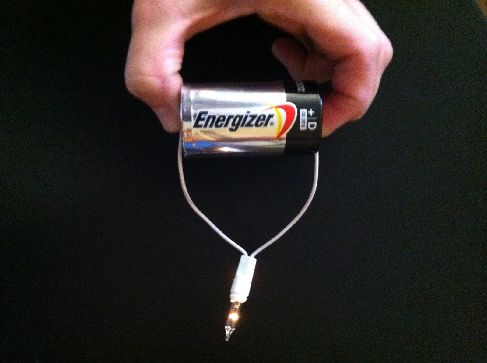 Electricity Battery And Wire Light Bulb Project